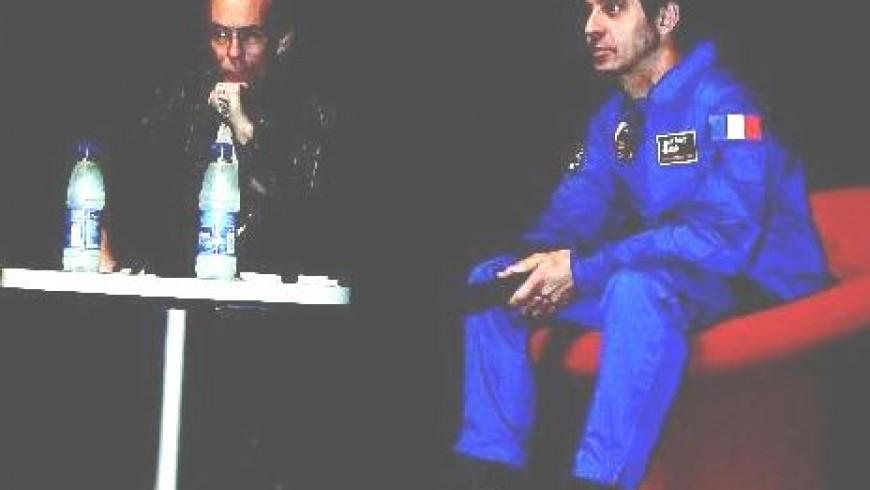 Léopold Eyharts en visite à la Cité de l'Espace