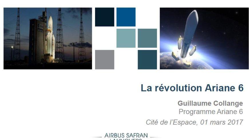 Support conférence : La révolution Ariane 6 par  Guillaume Collange