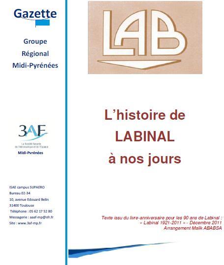 Nouveau dossier: L'histoire de LABINAL à nos jours Arrangement Malik ABABSA
