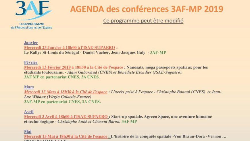 AGENDA des conférences 3AF-MP 2019