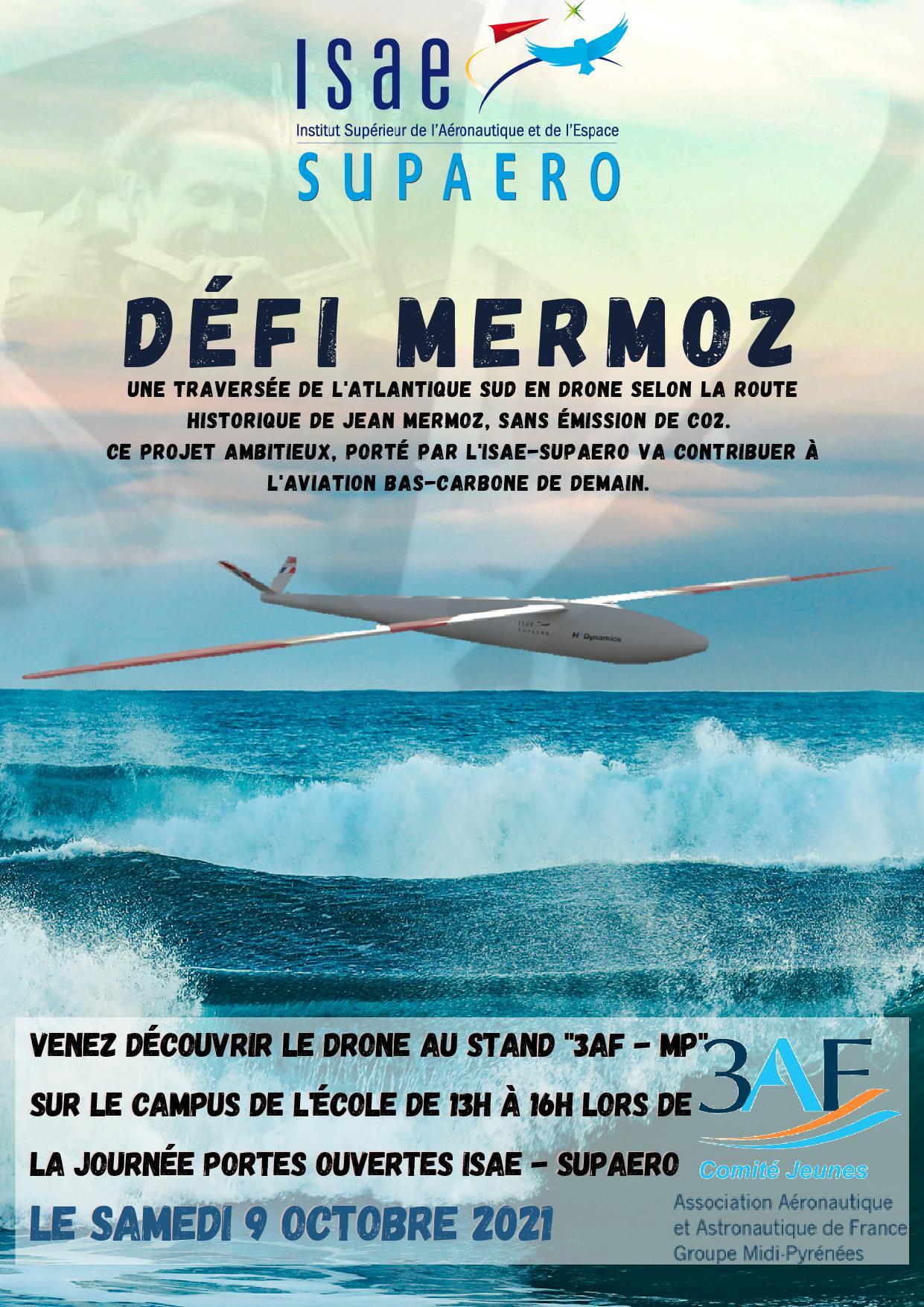 D é f i  M E R M O Z : Une traversée de l'atlantique Sud en drone selon la route historique de jean mermoz, sans émission de co2.